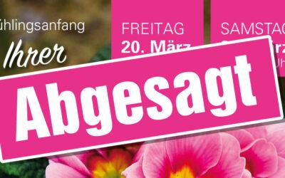 Abgesagt: Frühlings-Anfang in Ihrer Gärtnerei.