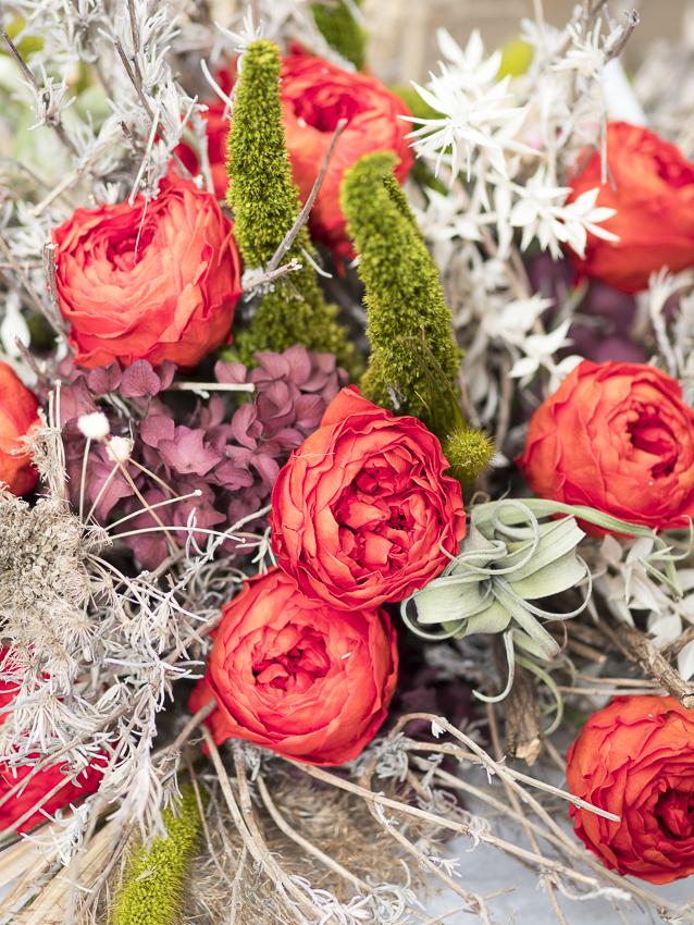 Konservierte Floristik, exklusive florale Deko, die nie verblüht und ewig hält